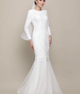 (Rent) Myrrakarim exclusive bridal kurung (kurung nikah)
