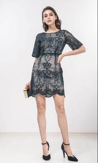 Ninthcollective BNWT Green lace dress (Gazelle crochet lace)
