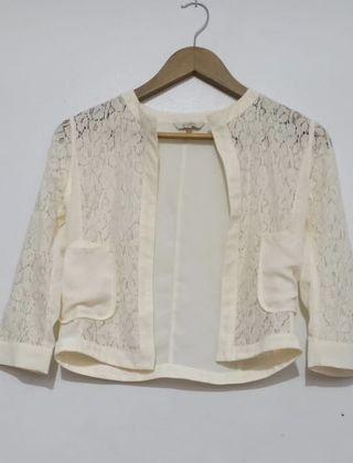 White Brocade Vest