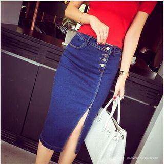 Midi Denim Button Skirt High Waist (UNUSED)