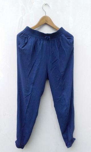 Celana jogger navy blue