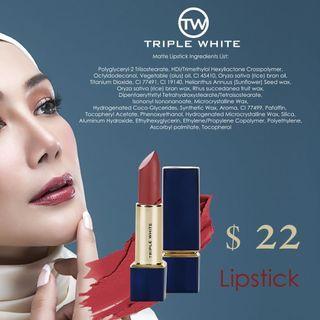 🚚 Lipstick Triplewhite Erra Fazira