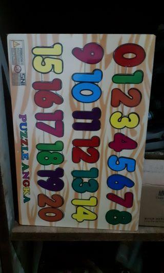 Puzzle Kayu Angka 1-20
