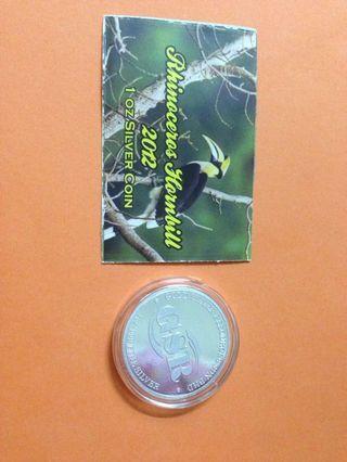 1oz Rhinoceros Hornbill Silver Coin
