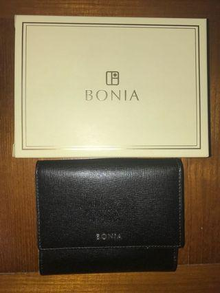 Preowned Authentic Bonia Black Leather Wallet