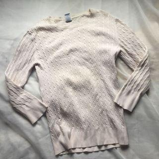 GAP Cream White Knit Sweater for Women
