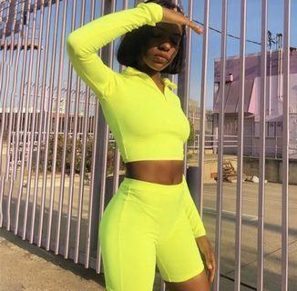 Brand New Women's Neon 2 Piece Set