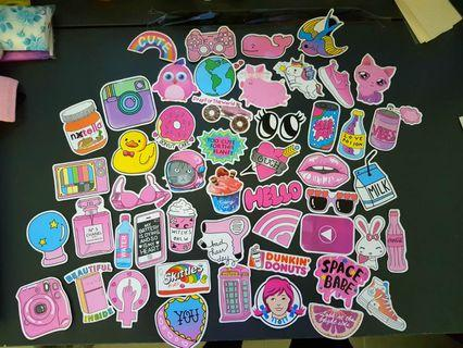 aesthetic pink theme stickers