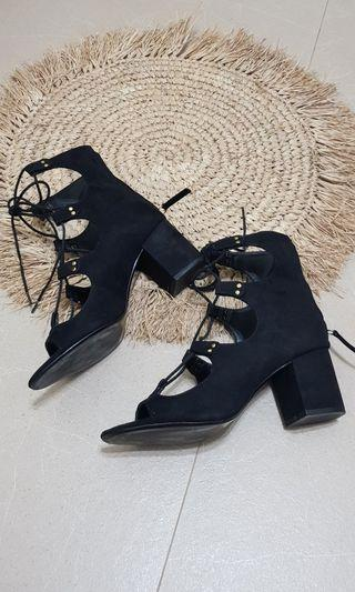 ZARA lace up boots