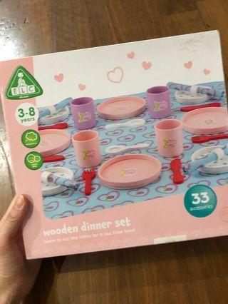 Jual cepat ELC toys wooden dinner set NEW only 395rb