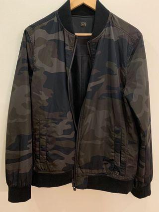 Calvin Klein CK Reversible Army Camouflage Bomber Jacket