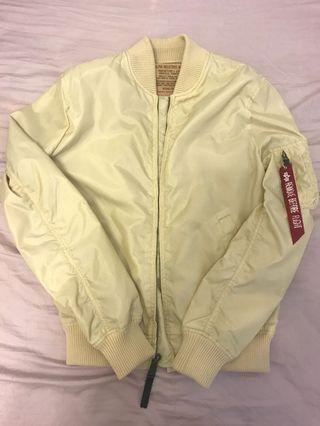 Alpha Industries MA 1 TT Bomber Jacket Cream Off White Beige