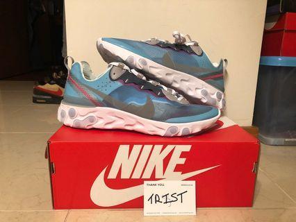 Nike React Element 87 royal tint US 11 Brand new