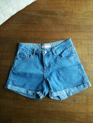 Apple mints denim shorts jeans pants