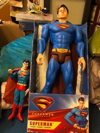 "30"" inch superman returns figure toy and superman cartoon figure"