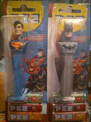 超人蝙蝠俠PEZ一對