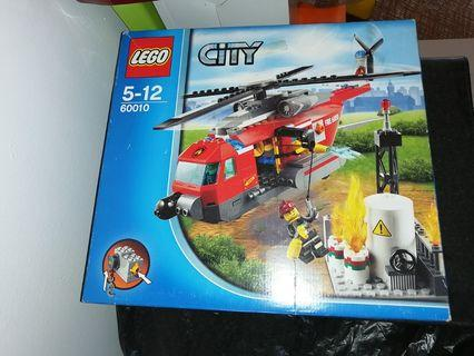 Lego City fire rescue helicopter bricks