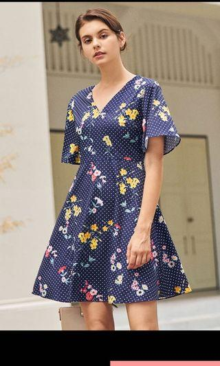 *2 for $50* TCL Lorina Floral Dotted Dress