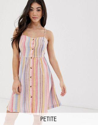 *2 for $50* New Look Petite Stripe Linen Mini Dress