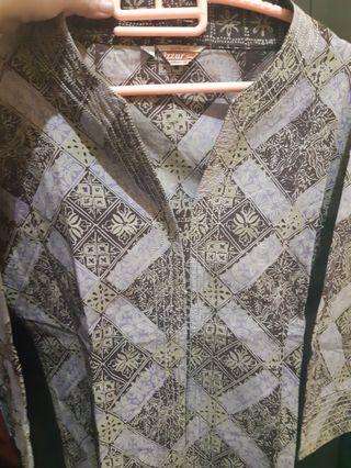 Preloved Atasan Batik XL Wanita