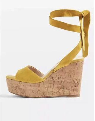 Topshop women suede long straps high heels