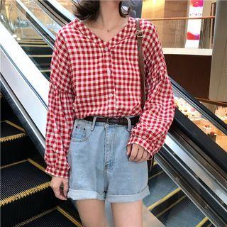 Cotton shirt blouse baju baju wanita lengan panjang #JUNEPAYDAY60