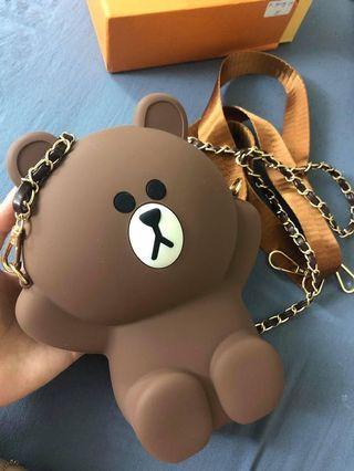 Brown bear bag