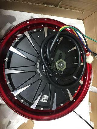 Brand new QS motor 2000w 12in + tires 120-70/12