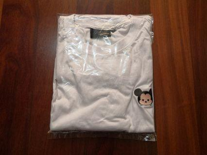 Mickey Embroidery White Tee