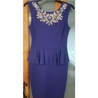 (M size) New without tag Lipsy Purple Blue Dress with sequins