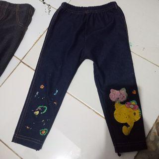 #BelanjaBulanan Celana jeans anak perempuan 1-2tahun