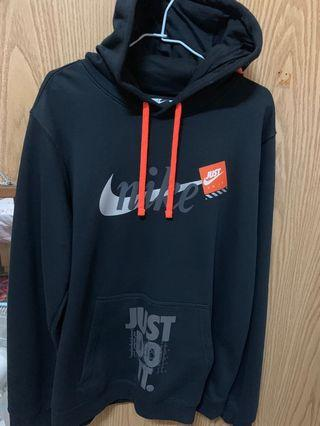 Nike just do it hoodie 刷毛帽T 激似Off White款