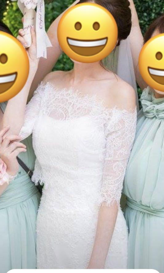 婚紗外套 一字肩披肩