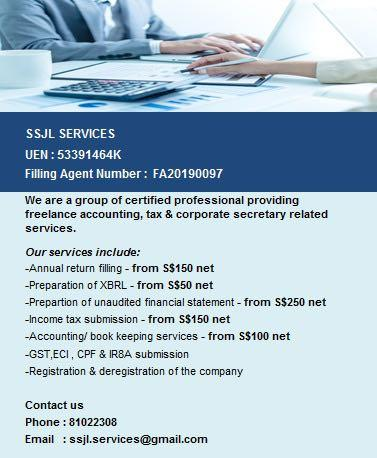 Accounting & tax related services 做账 & 报税服务
