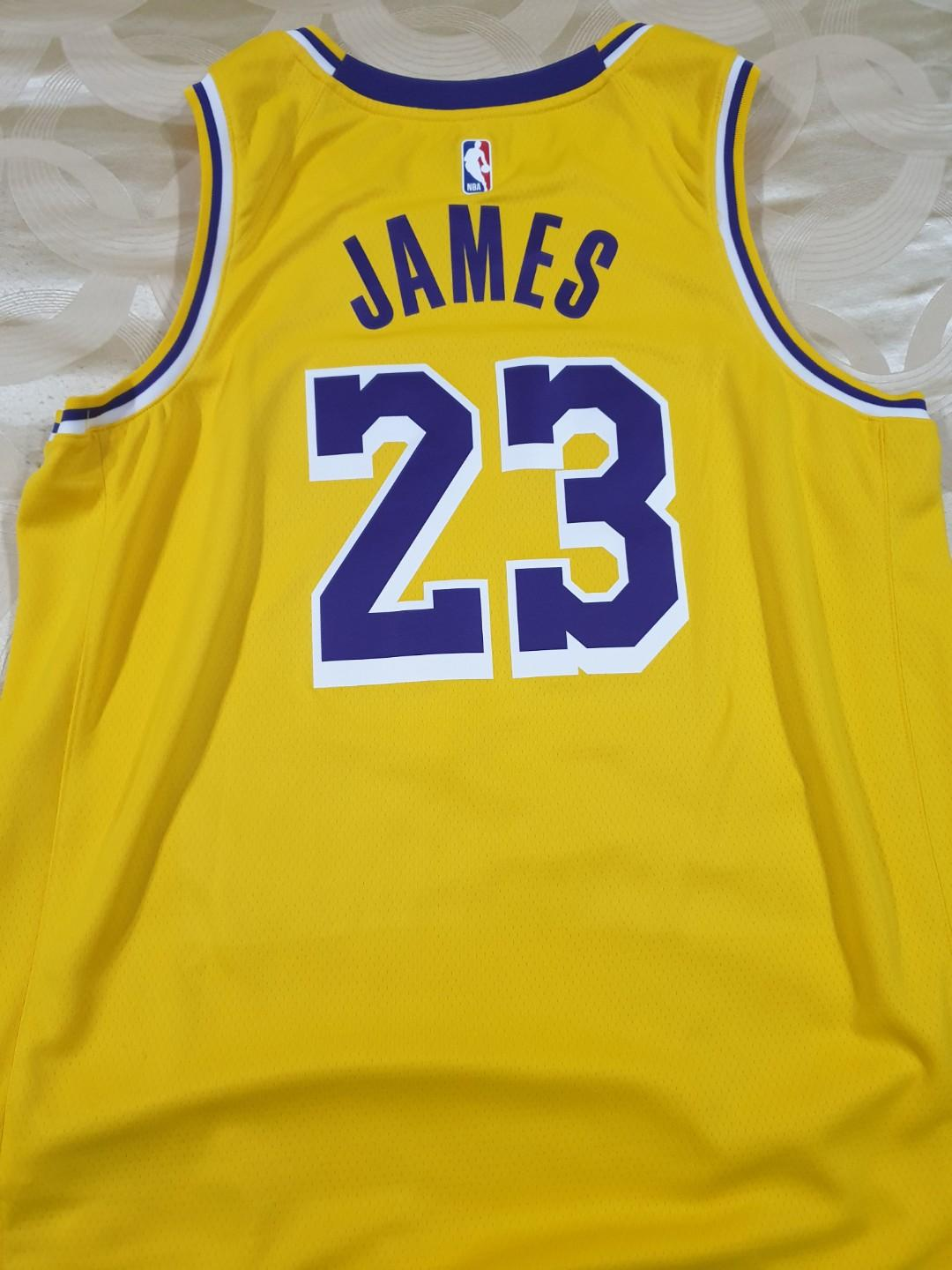 new arrival f968b 575a5 Authentic NBA Showtime Nike LA Lakers Jersey XL with #23 ...