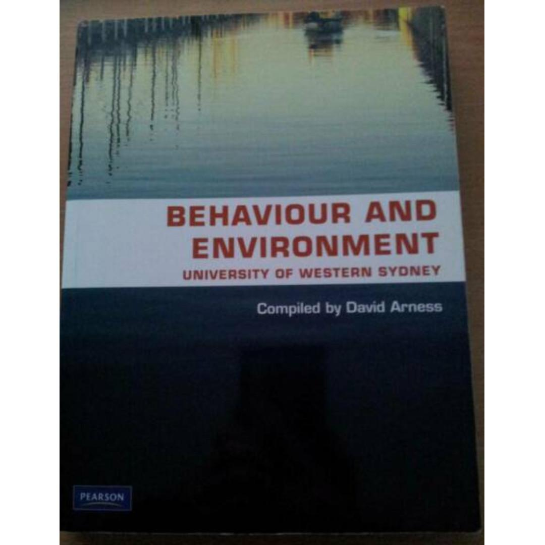 Behaviour and Environment Compiled By David Arness