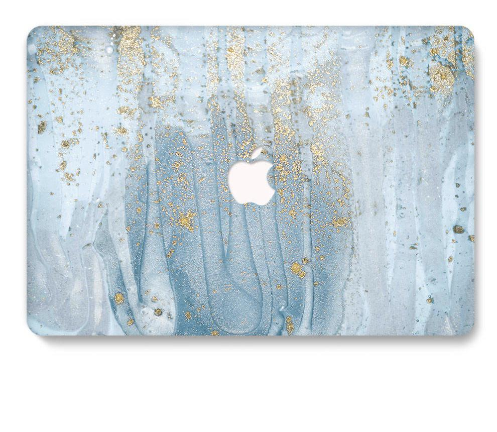 Dancing Gold on Marble Swirl MacBook Pro/Air/Retina Case