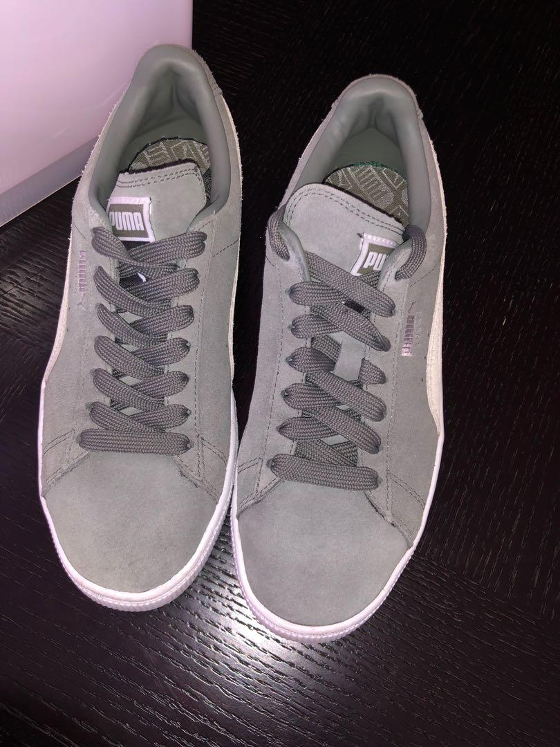 Grey puma suede