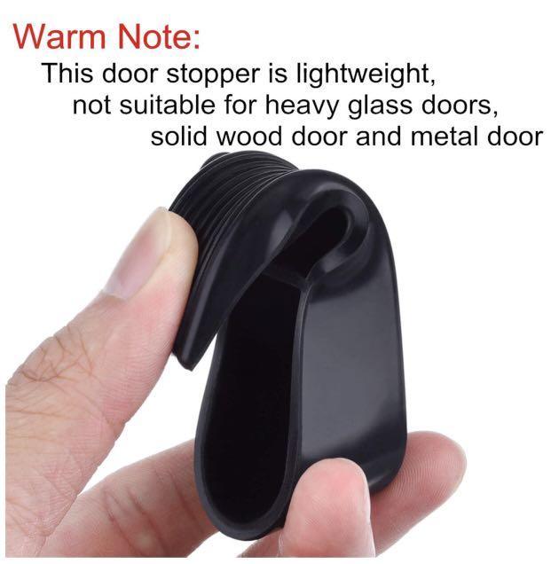 Hotop 6 Pack Door Stop Wedges Black Rubber Door Stoppers for Home and Office