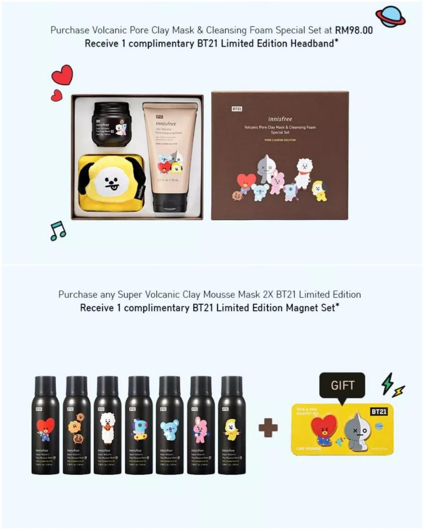 Innisfree x BT21 Limited Edition Shopping Service (1-31st July, 2019) -CLOSED-