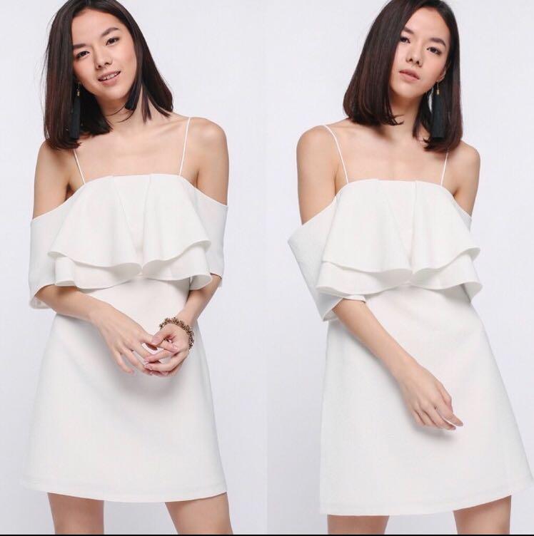 Love Bonito Theora Off Shoulder Dress - White (M)