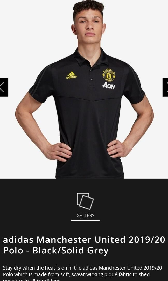 Manchester United 2019 20 Training Polo Black Sports Sports Apparel On Carousell
