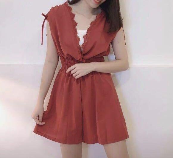 Maroon colour Romper