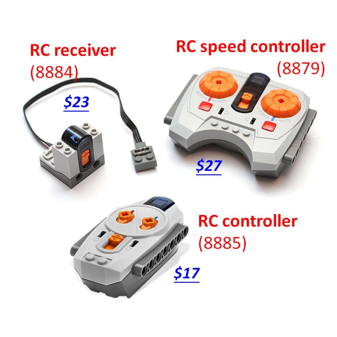 Motor, remote control, battery box, LiPO, electronics, LED light, extension cable, switch, lepin power functions (8869, 8881, 8882, 8883, 8884, 8885, 8886, 8870, 8871, 8878, 8879, 88000, 88002, 88003, 88004) Third-part/lepin/CaDA/NOT LEGO Technic PFs