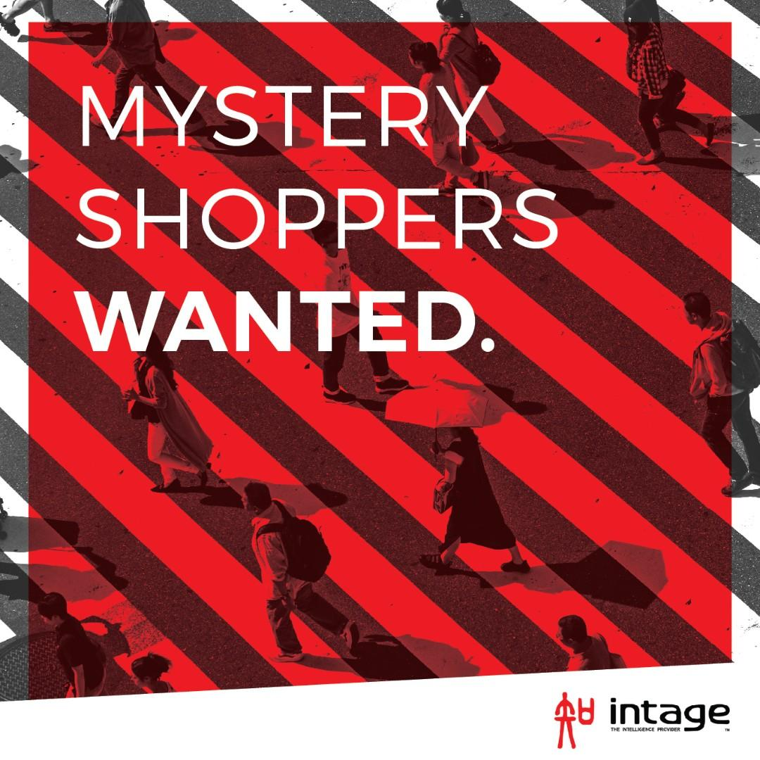MYSTERY SHOPPERS - $30 to $120 PER COMPLETED PROJECT