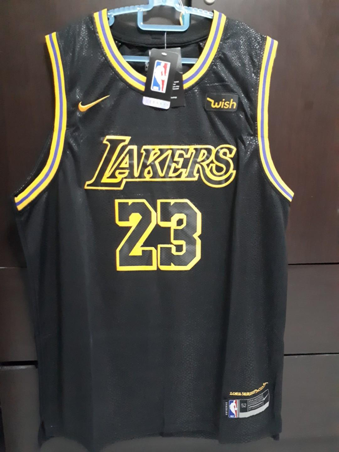 meet 44d1a fa43f NBA Jersey Lakers Lebron, Sports, Sports Apparel on Carousell