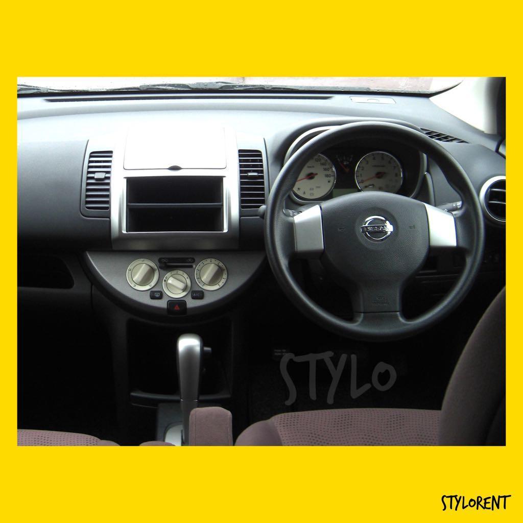 Nissan Note CAR RENT GRAB GOJEK RYDE CHEAP RENTAL FUEL SAVING
