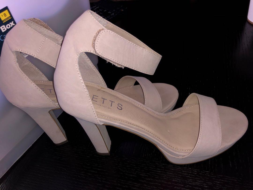 Nude betts heels