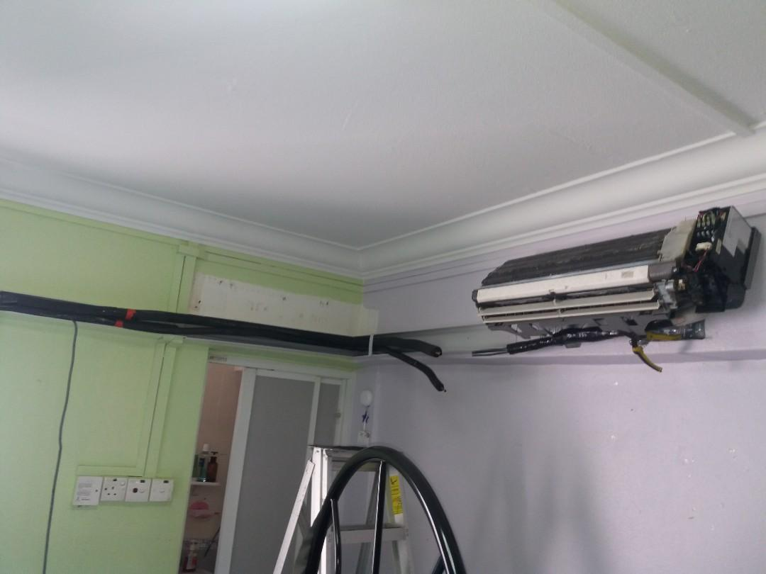 Relocation of aircon