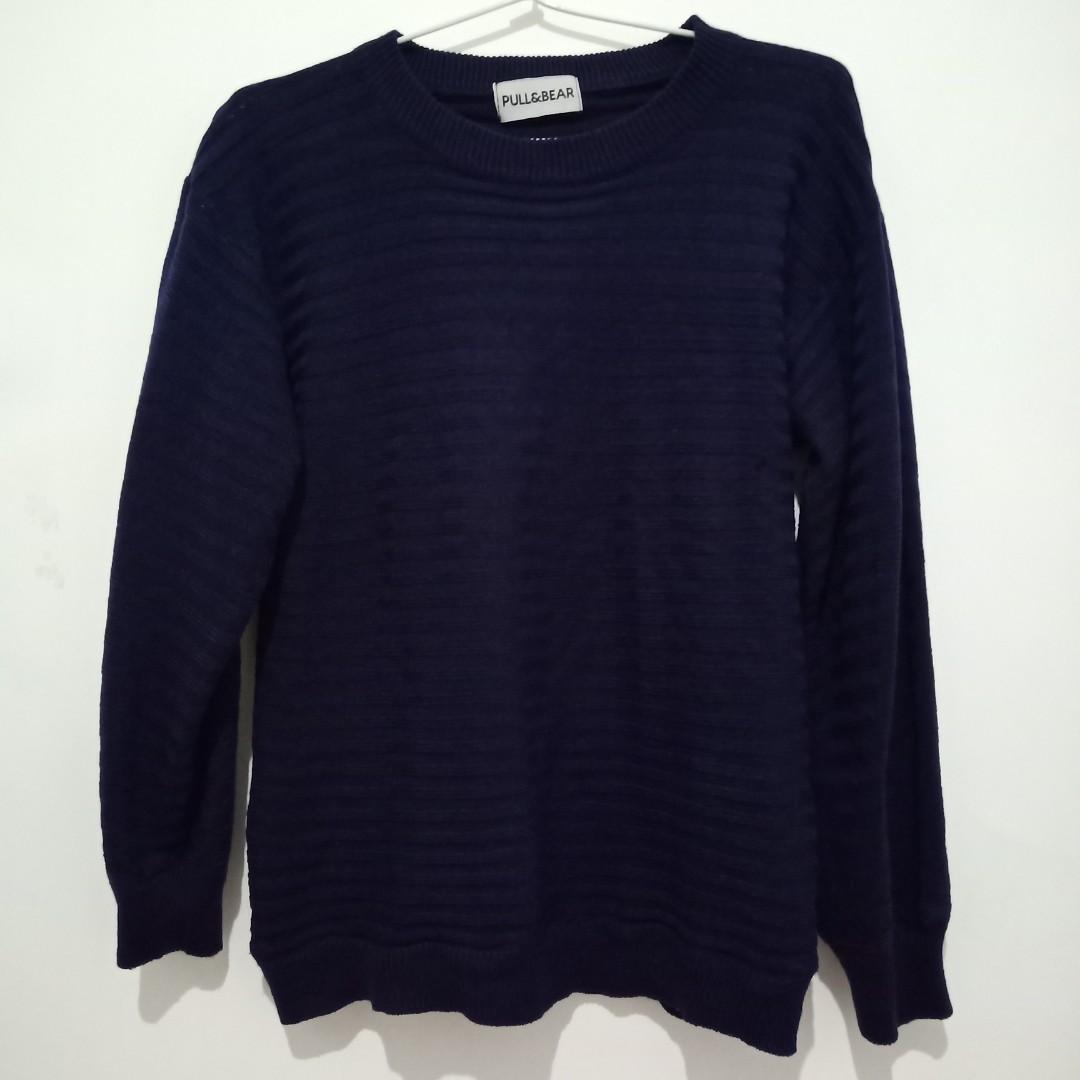 Sweater tipis Biru Gelap